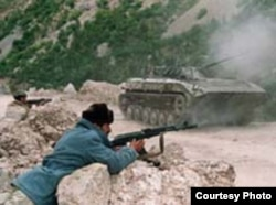 Fighting in Tavildara, in central Tajikistan, during the civil war that took place between 1992 and 1997.