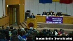 Maxim Brăila, la o şedinţă de partid