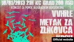 Plakat za koncert u KC Gradu