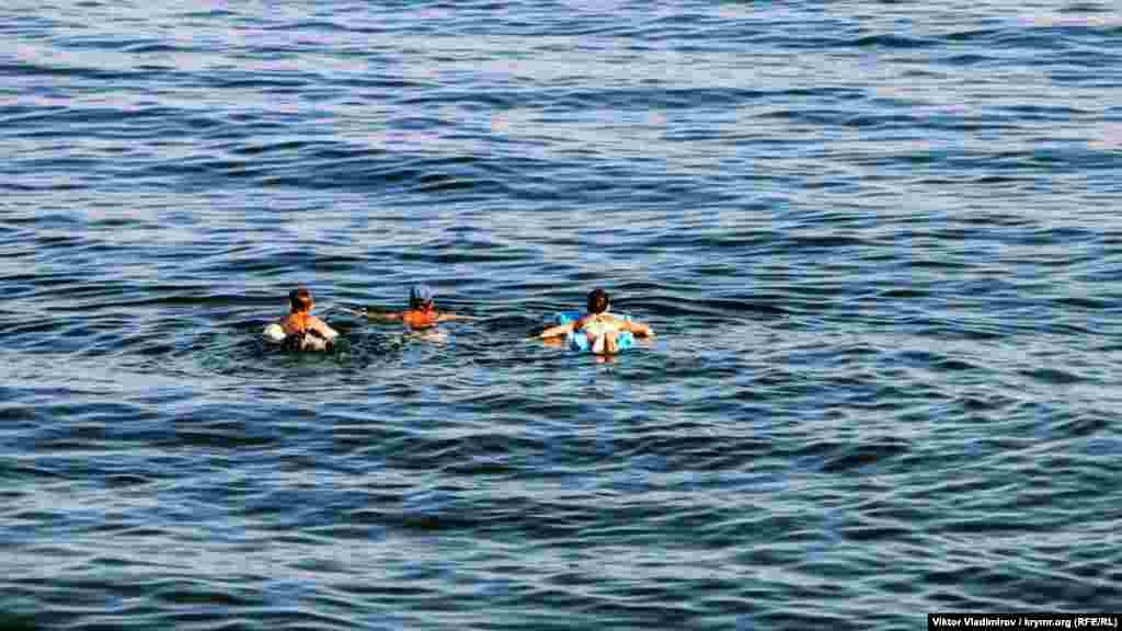 «Синхронный» заплыв