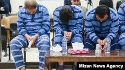 تصویری که خبرگزاری میزان وابسته به قوه قضائیه جمهوری اسلامی از دادگاه روز شنبه منتشر کرده است