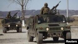 Грузиски војници кои се дел од воените вежби со САД