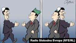 Predrag Koraksiç Koraksyň çeken karikaturasy. 23-nji awgust, 2012 ý.