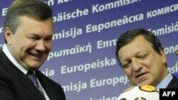 Віктор Янукович та голова Єврокомісії Жозе Мануель Баррозу, Брюссель, 13 вересня 2010 року