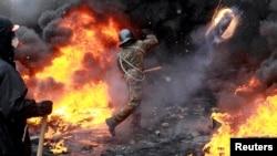 Kiev, seara zilei de 22 ianuarie, 2014