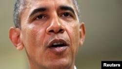 Президент США Барак Обама. 14 октября 2013 года.