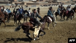 Afghan horsemen compete during the traditional sport of buzkashi in Kabul. (file photo)