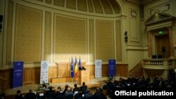 Preşedintele Traian Băsescu la Forumul european pentru diplomaţie publică, Bucureşti