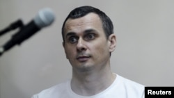 Jailed Ukrainian film director Oleh Sentsov (file photo)