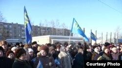 Митинг в поселке Сычево, 6 февраля 2010 г