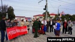 Пророссийский митинг у памятника Шевченко в Симферополе, 9 марта 2019 года