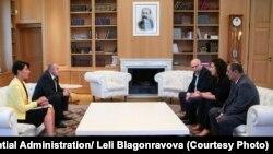 ლეილა მუსტაფაევას შეხვედრა საქართველოს პრეზიდენტთან