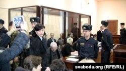 Вярхоўны суд судзіць сэнатара Ганну Шарэйку. Менск, 22 лютага 2016 году
