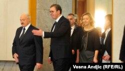Аляксандар Лукашэнка і Аляксандар Вучыч у Бялградзе, 3 сьнежня