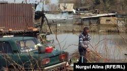 Су басқан Косагор ауылы. Солтүстік Қазақстан облысы. 2 мамыр 2017 жыл.