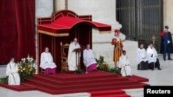 Рим Папасы Францискті ұлықтау салтанаты. Ватикан, 19 наурыз 2013 жыл.