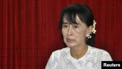 Лидер оппозиции Мьянмы Аун Сан Су Чжи.