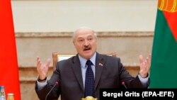 Аляксандар Лукашэнка падчас