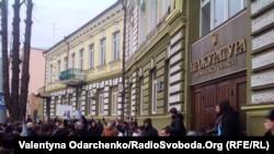 Атака на здание областной администрации в Луцке