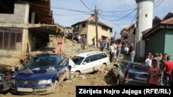 Pasojat e vërshimeve në Tetovë