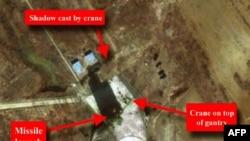 سکوی پرتاب موشک موسودان- ری در ساحل شمالشرقی کرهشمالی،