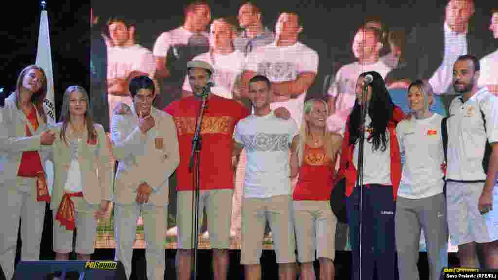Montenegrin Olympians sport the khaki suits created by well-known designer Marina Banovic Dzuver, with the country's coat of arms on the pocket.