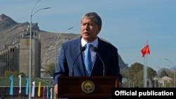 Kyrgyz President President Almazbek Atambaev 9file photo)