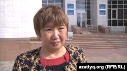 Балкия Бисенгалиева, жительница Астаны, которую обвинили в клевете. 13 сентября 2016 года.
