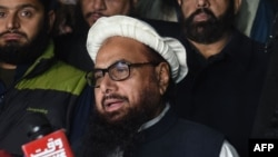 Pakistani leader of the Jamaat-ud-Dawa organization Hafiz Saeed is under house arrest. (file photo)