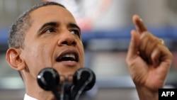 Президент США Барак Обама. США, 13 февраля 2012 года.