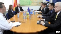 Министерката Гордана Јанкулоска на работен состанок со раководството на Одделот за обезбедување при МВР.