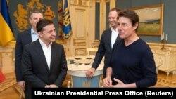Հոլիվուդի աստղ Թոմ Քրուզը Ուկրաինայի նախագահ Վլադիմիր Զելենսկու նստավայրում, Կիև, 30-ը սեպտեմբերի, 2019թ.