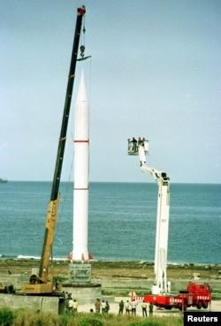 Советская ракета с ядерной боеголовкой, размещенная на Кубе во время Карибского кризиса. 1962 год.
