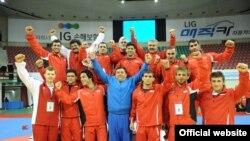 تیم ملی کشتی فرنگی ایران در کره جنوبی؛ عکس از فدراسیون کشتی ایران