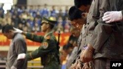 Китайские власти приводят в исполнение смертный приговор. Иллюстративное фото.