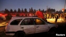Ресей елшілігі маңында болған жарылыстан кейін. Кабул, Ауғанстан, 20 қаңтар 2016 жыл.