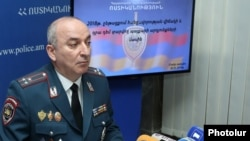 Armenia - Armen Ghukasian, the chief of the police staff, at a news conference in Yerevan, January 30, 2019.