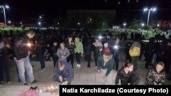 Акция памяти в Ткибули, 9 апреля 2018 г.