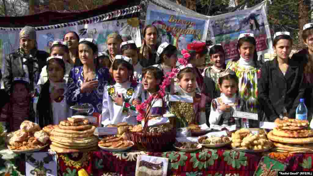 Tajiks are celebrating Norouz, the Persian New Year, which marks the beginning of spring. In the capital Dushanbe, children gather at an outdoor fair with traditional food.