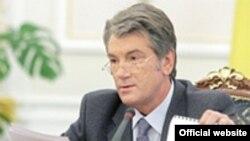 Віктор Ющенко під час наради з представниками місцевої влади, Київ, 16 грудня 2008 р.