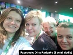 Справа наліво: Ольга Руденко, Ірина Побєдоносцева та Тетяна Циба – народний депутат від фракції «Слуга народу»
