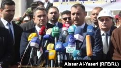 وزير الاسكان والاعمار طارق الخيكاني في النجف، 12 آذار 2015