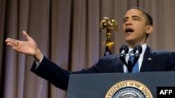 Президент Барак Обама закликає врегулювати операції на фондовій біржі. Нью-Йорк, 23 квітня 2010 року