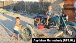 Дети в сельской местности. Кызылординская область, 16 июля 2013 ггода. Иллюстративное фото.
