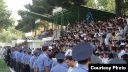 Во время матча с российским ЦСКА. Душанбе, 22 июня 2011 года.