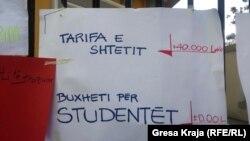 Protestat e studentëve në Shqipëri