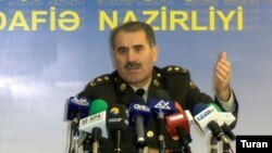 Azerbaikani Defense Ministry spokesman Eldar Sabiroglu (file photo)