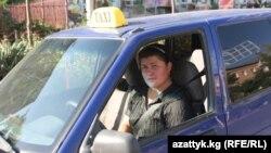 Такси в Оше - городе на юге Кыргызстана.