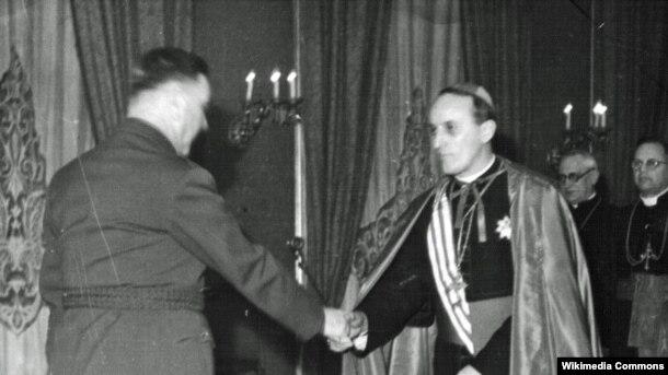 Ante Pavelić i Alojzije Stepinac