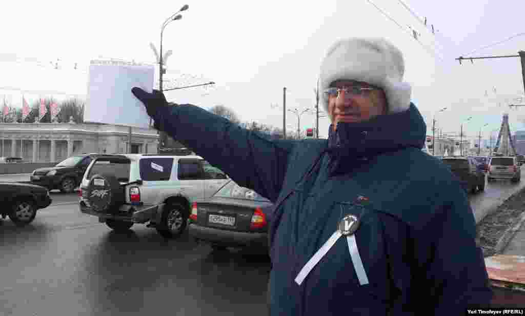 """Мәскәүдә """"Ак урамнар"""" чарасы, 19 февраль 2012"""